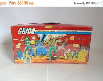 Sale - Vintage c. 1984 G.I. JOE Toy Collectors Case - Holds 24 Figures & Accessories by Hasbro
