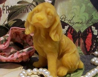 Beeswax Dog Candle Cocker Spaniel Puppy Dog