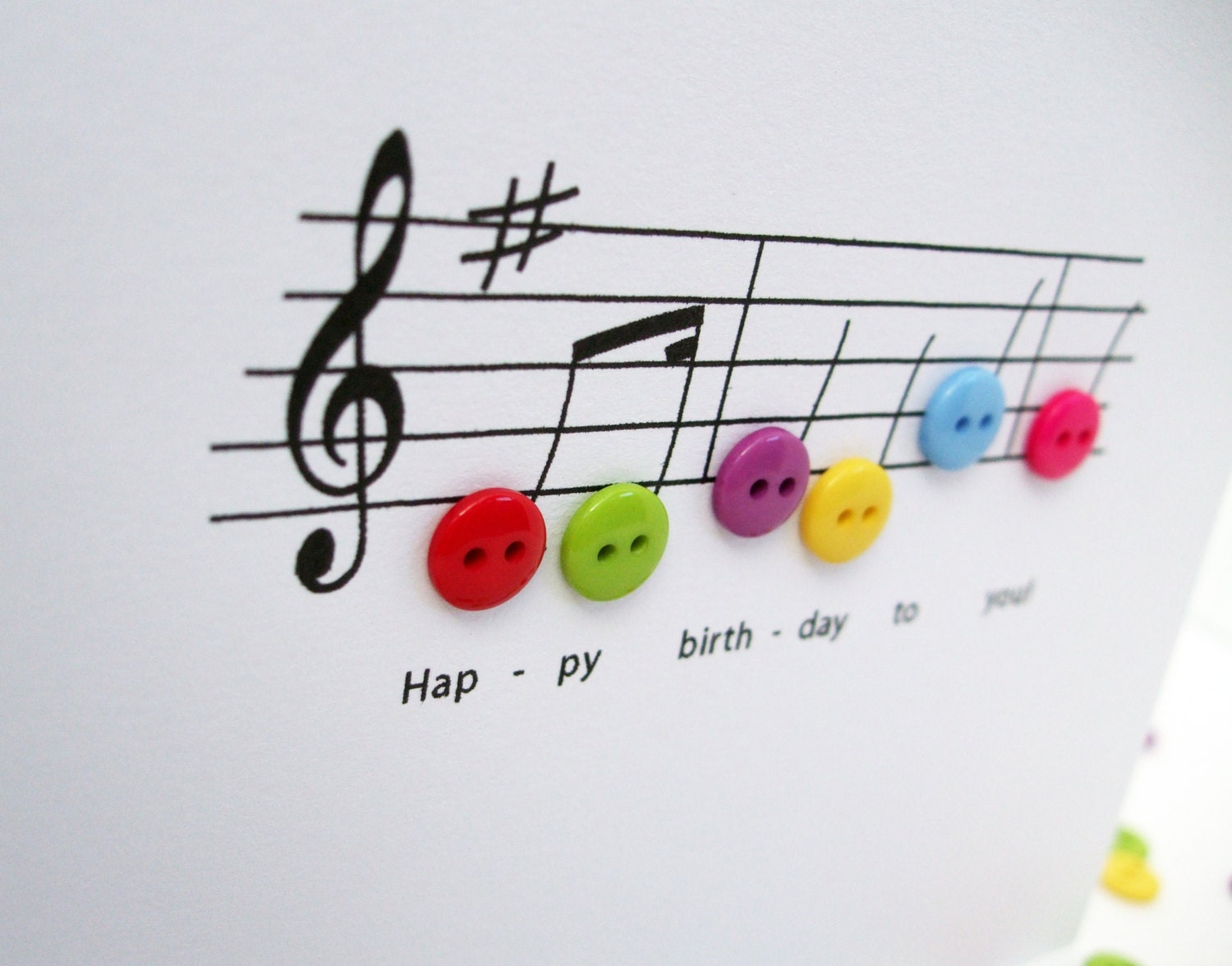 Happy birthday music card birthday card with button notes description happy birthday music card bookmarktalkfo Images