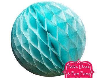 Birthday Party Decoration Ideas & Supplies / 29cm BLUE Tissue Paper Honeycomb Balls / LARGE / Wedding / Baby Shower