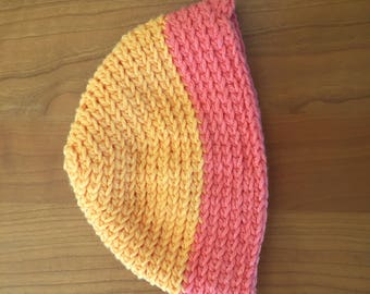 Bi-Colored Spiral Hat