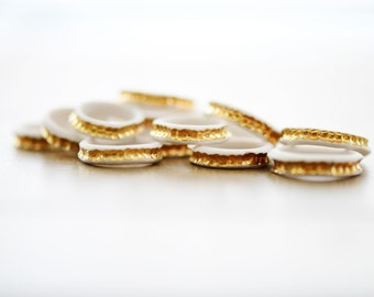 22k Gold River Ring - Porcelain Ring - Gold band - jewelry - ceramic jewelry - porcelain jewelry