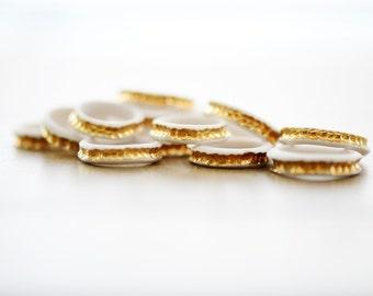 22k Gold River Ring - Porcelain Ring - Gold band - jewelry - ceramic jewelry - porcelain jewelry