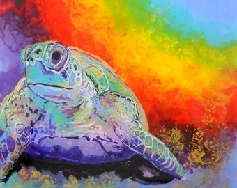 Sea Turtle Art Prints,  turtle paintings, sea turtle wall art, Hawaii honu, turtle art, Hawaiian honu prints, Hawaiian decor, kauaiartist