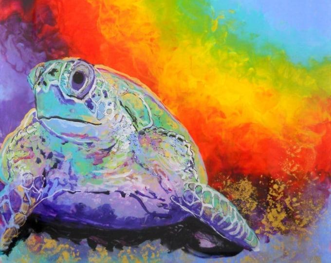 Sea Turtle Art Prints,  turtle paintings, sea turtle wall art, Hawaii honu, turtle art, Hawaiian honu prints, Hawaiian decor, kauaiartist