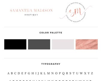 Rose gold logo, Boutique logo, Premade logo, Business logo, Blog logo, Blog logo kit, Calligraphy logo, Photography logo, Premade logos