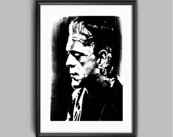 Frankenstein poster print - Vintage horror movie posters