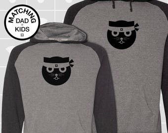 SALE! Matching Dad & Son Kung Fu Hoodies | Father Son Matching Shirts | Dad Son Matching Shirts | Ninja Cat Gift | Daddy and Me