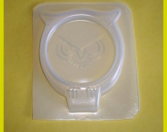 SALE Kitschy Owl Coaster Handmade Flexible Plastic Resin Mold