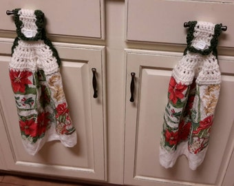 Decorative kitchen towels come in pairs