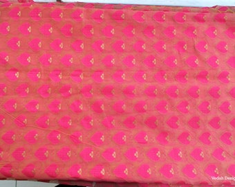 Free shipping iridescent pink Chanderi silk fabric sheer silk fabric sold by the yard