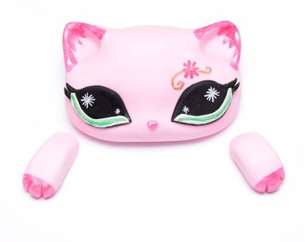 Fondant Littlest Pet Shop Pink Kitty (LPS) Cake Topper
