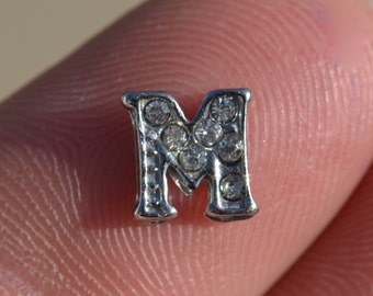 1 Memory Locket Letter M Charm FL345