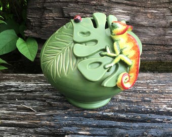 Chameleon Jungle Vase (Jungle Dreams)