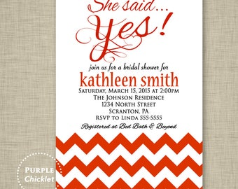 She Said Yes Invitation Red Bridal Shower Invitation Engagement Invitation Red Adult Printable Party Invite JPEG file (24)