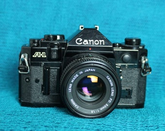 Canon A-1 35mm Camera-with 50mm FD lens