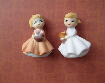 Vintage Tiny Bisque Dolls 2 Inches