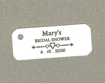Wedding Tags, Set of 50, Bridal Shower Tag, Printed Tags, Wedding Shower Tags, Tags, Wedding Favor, Thank You Tag