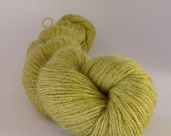 Hand dyed yarn, alpaca, silk and cashmere, naturally dyed, green, WASCH/G/2