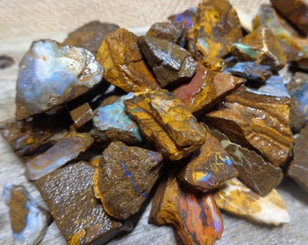 200g Rough Boulder Opal Potch  - Job Lot, Ideal for Inlay, Carving or Jewellery Work, Raw Opal with Colour, FREE WORLDWIDE DELIVERY (3046)