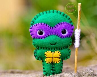 Felt Donatello - TMNT - Pocket Plush Toy