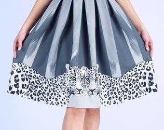 Silver Leopard - skirt