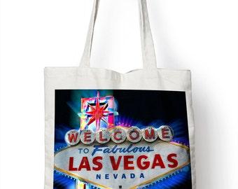 Las Vegas Neon Sign Tote Shopper Bag For Life America USA Shopping E71