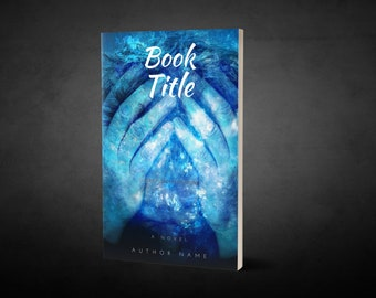 "Premade Ebook Cover ""Head Glow Blue"" Fiction Literary Fiction Mystery"