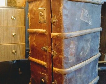 A bentwood steamer vintage trunk