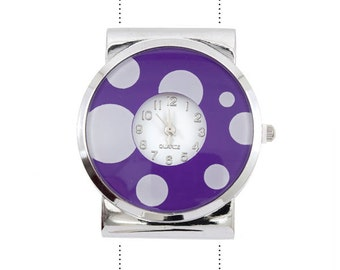 learance 37mm x 42mm Purple Watch with Dots -  Quartz Movement - 1 Piece - 0034-06