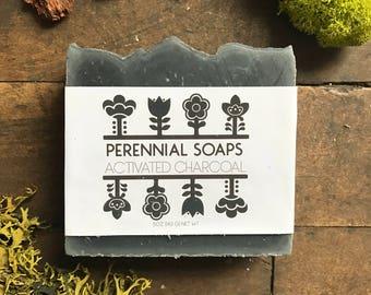 Eucalyptus Grapefruit Charcoal Soap - Vegan Soap with Activated Charcoal - Facial Soap - Facial Bar