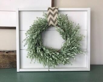 Small Shiplap sign. Shiplap wall decor. Real Shiplap. Fixer Upper sign. Farmhouse style. Farmhouse wall decor. Wreath holder. Frame holder.