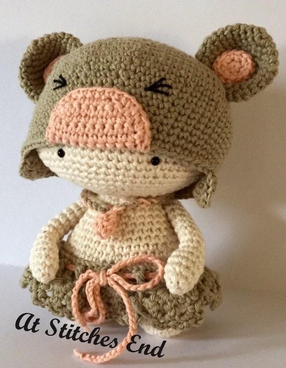 Patrón para los osos sombrero de ganchillo niña.