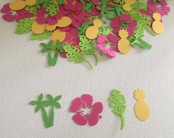 100 Piece Hawaii Confetti, Tropical Confetti, Luau Party, Luau Confetti, Hawaiian Party, Table Decor, Hawaiian Party Decor