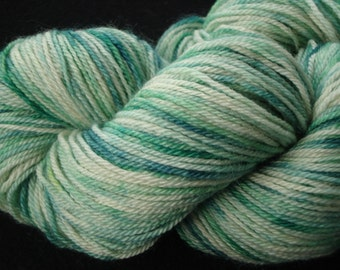 Hand dyed Sock Type BFL Superwash Yarn