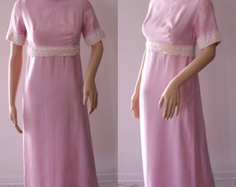 CLEARANCE - Romantic 60's Handmade Pink Dress with History