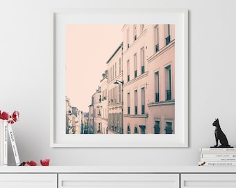 Paris wall art, mothers day gift, extra large wall art, Paris photography, framed wall art, Paris prints wall art canvas blush pink wall art