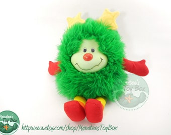Rainbow Brite Green Sprite Plush Lucky: 1980s Toy by Mattel