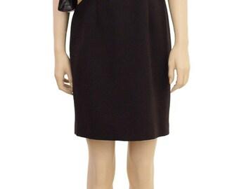 Vintage Dress, Women's Dress, Brown Dress, 1990s Dress, Cotton Dress, Women's Clothing, Dresses, Knee Length Dress, Sheath Dress, Madrigano