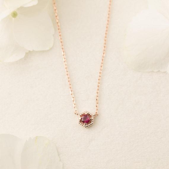 14k gold ruby necklace genuine ruby floating necklace tiny aloadofball Gallery