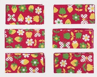 Bright Red Napkins - Set of 6 - Vintage