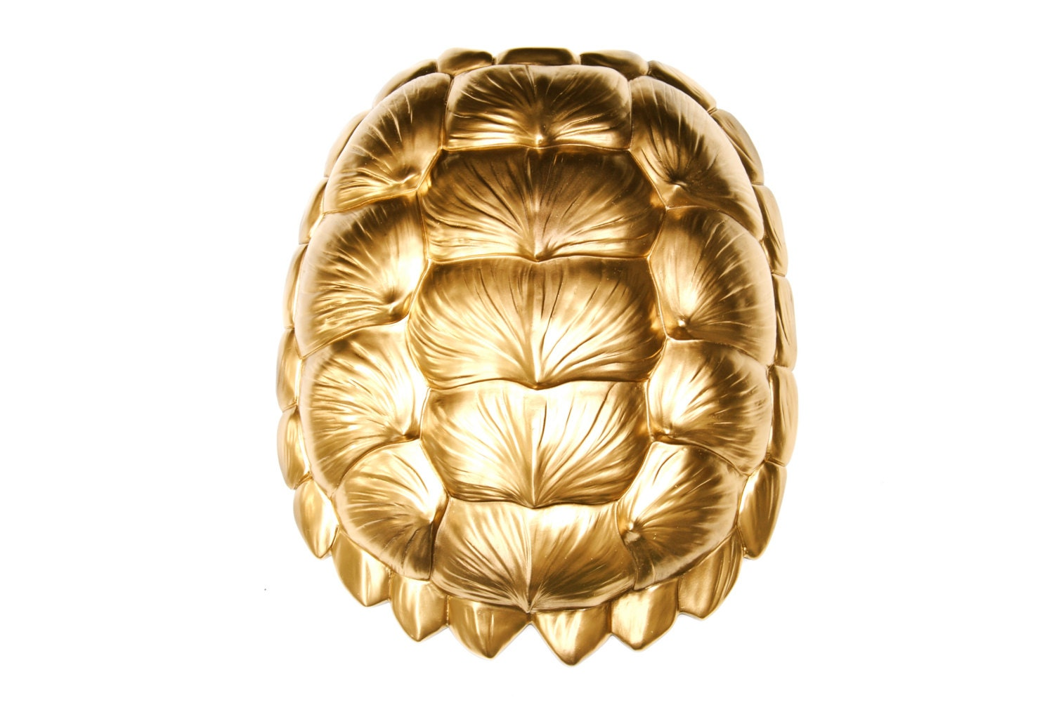 Turtle Shell Wall Decor The Bayou in Gold Large Faux Resin