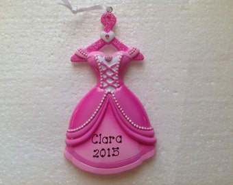 Personalized Disney Princess Dress, Gown, Ballroom Dancing Ornament- Free Personalization