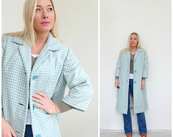 1950s Spring Houndstooth Coat // Size Extra Small to Small