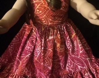 Journey Girl AG Doll 18in V-neck Spring Doll Dress