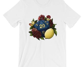 Marsala D20 Short-Sleeve Unisex T-Shirt - D&D Tabletop Gaming