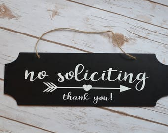 Simple no soliciting sign
