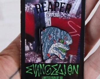 Evangelion eva enamel pin from grimjob x the pin reaper . Manga anime