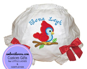 Antique Bird Bloomer + Diaper Cover