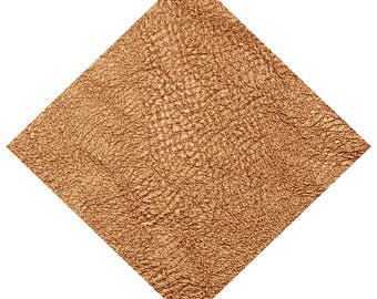 Fabric coupon leatherette thick copper metallic 15 x 30 cm